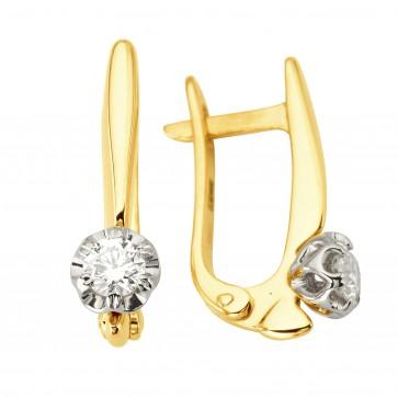 Сережки з 1 діамантом 322-1159