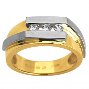 Перстень з декількома діамантами 341-0922