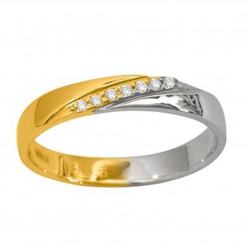 Обручка з декількома діамантами 341-1517