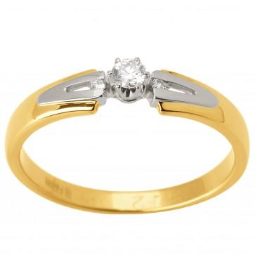 Каблучка з декількома діамантами 341-1560