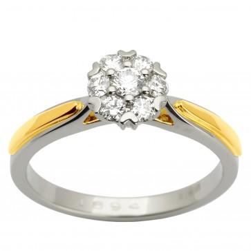 Каблучка з декількома діамантами 341-1613