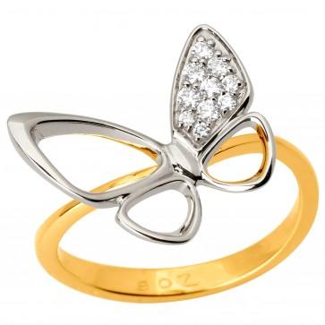 Каблучка з декількома діамантами 341-1731