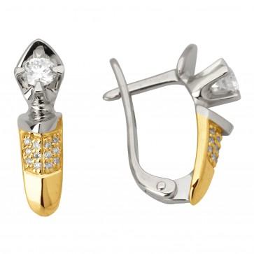 Сережки з декількома діамантами 342-1043