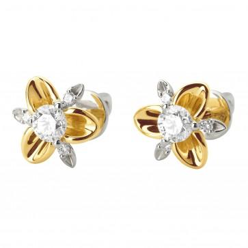 Сережки з декількома діамантами 342-1066
