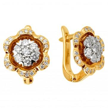 Сережки з декількома діамантами 342-1108