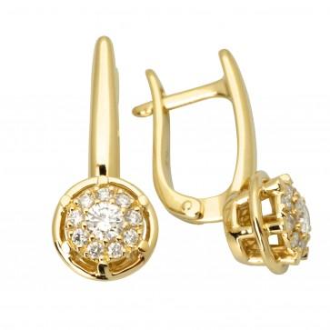 Сережки з декількома діамантами 342-2004