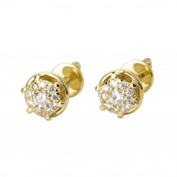 Сережки з декількома діамантами 342-2007