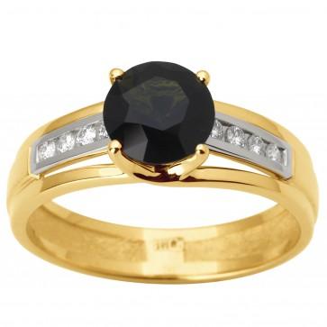 Каблучка з діамантами та кольоровим камінням 381-1787