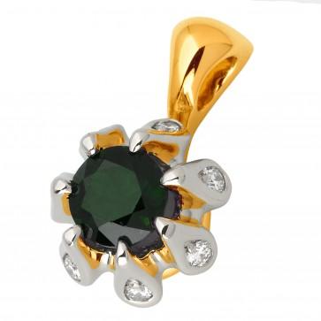 Підвіска з діамантами та кольоровим камінням 389-0750