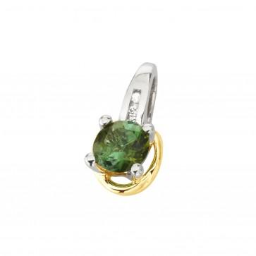 Підвіска з діамантами та кольоровим камінням 389-0864