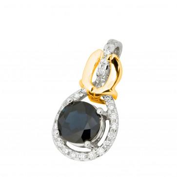 Підвіска з діамантами та кольоровим камінням 389-0874