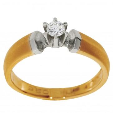 Каблучка з 1 діамантом 821-0221