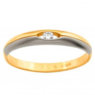 Обручка з 1 діамантом 821-0325