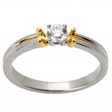 Каблучка з 1 діамантом 821-1250
