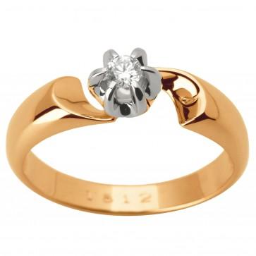 Каблучка з 1 діамантом 821-1629