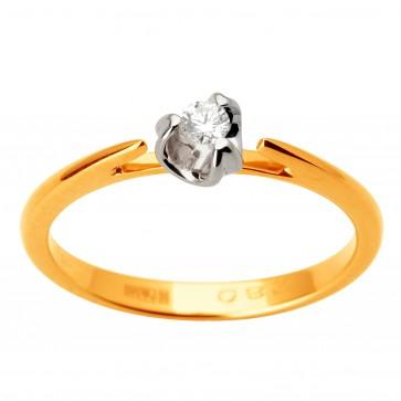 Каблучка з 1 діамантом 821-1694