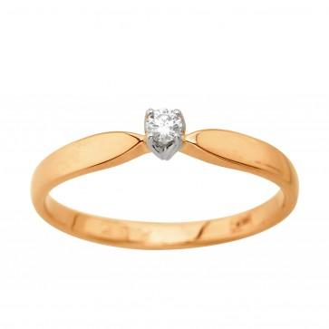 Каблучка з 1 діамантом 821-2194