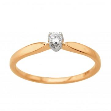 Каблучка з 1 діамантом 821-2195