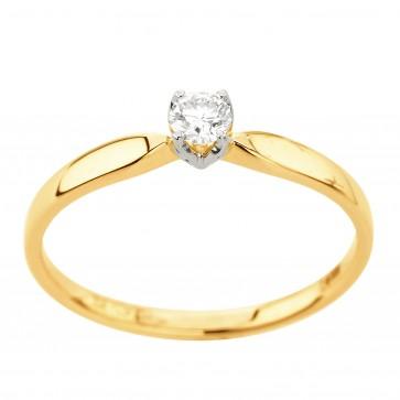 Каблучка з 1 діамантом 821-2197