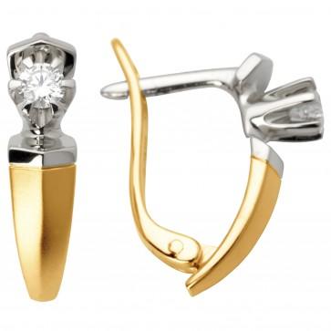 Сережки з 1 діамантом 822-0285