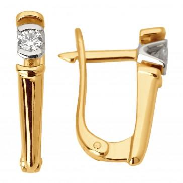 Сережки з 1 діамантом 822-0824