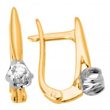 Сережки з 1 діамантом 822-0959
