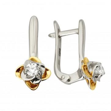 Сережки з 1 діамантом 822-1146