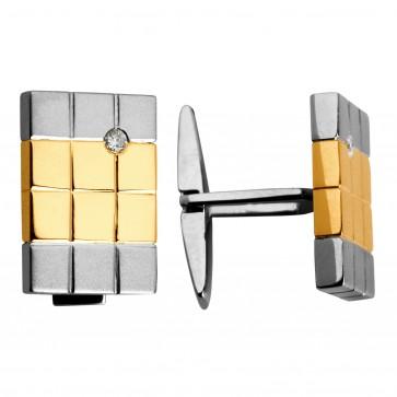 Запонки з 1 діамантом 826-0023