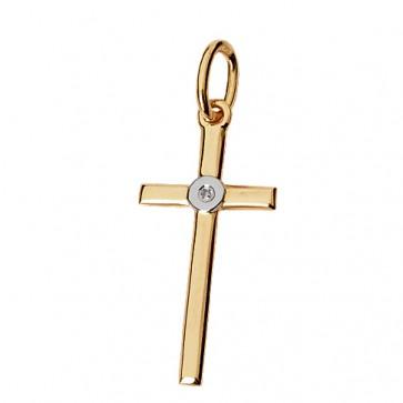 Хрест з 1 діамантом 829-0028