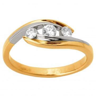 Каблучка з декількома діамантами 841-1274