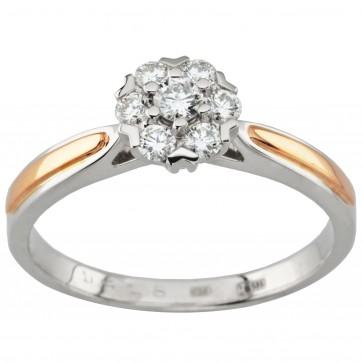 Каблучка з декількома діамантами 841-1613