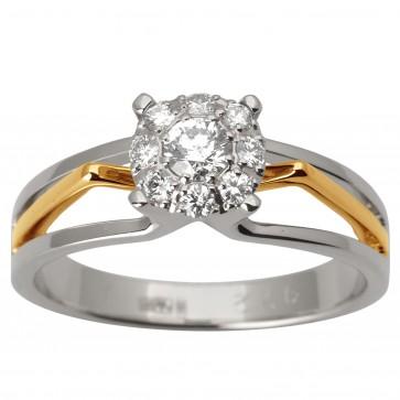 Каблучка з декількома діамантами 841-1711