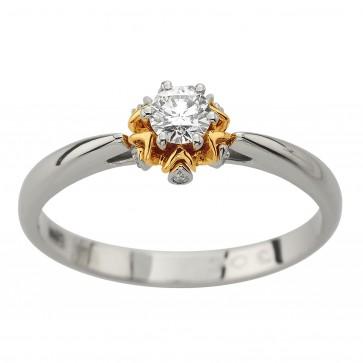 Каблучка з декількома діамантами 841-2110