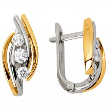Сережки з декількома діамантами 842-0622