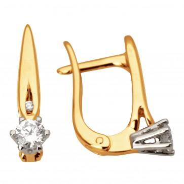 Сережки з декількома діамантами 342-0956