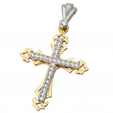Хрест з декількома діамантами 849-0604