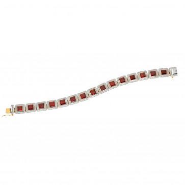 Браслет з діамантами та кольоровим камінням 888-0029