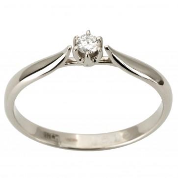 Каблучка з 1 діамантом 921-1881