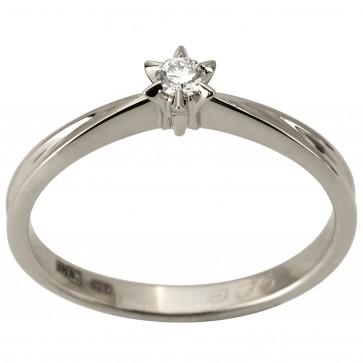 Каблучка з 1 діамантом 921-1883