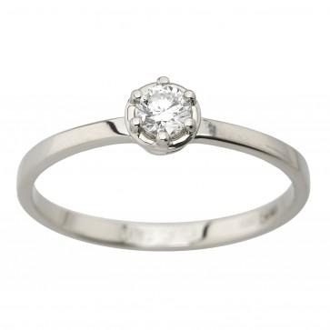 Каблучка з 1 діамантом 921-1977