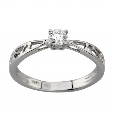 Каблучка з 1 діамантом 921-2004