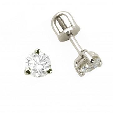 Сережки з 1 діамантом 922-0215