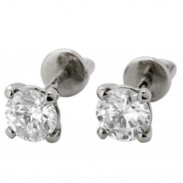 Сережки з 1 діамантом 922-0384
