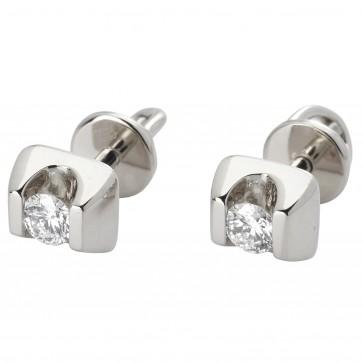 Сережки з 1 діамантом 922-0596