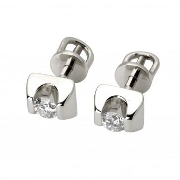 Сережки з 1 діамантом 922-0602