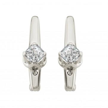 Сережки з 1 діамантом 922-0981.12