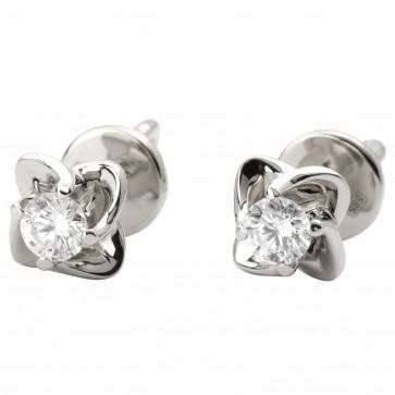 Сережки з 1 діамантом 922-1051