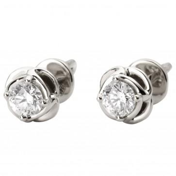 Сережки з 1 діамантом 922-1053