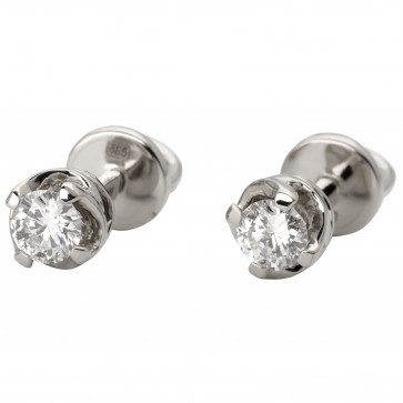 Сережки з 1 діамантом 922-1057