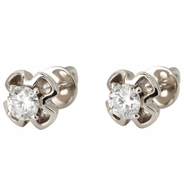 Сережки з 1 діамантом 922-1148